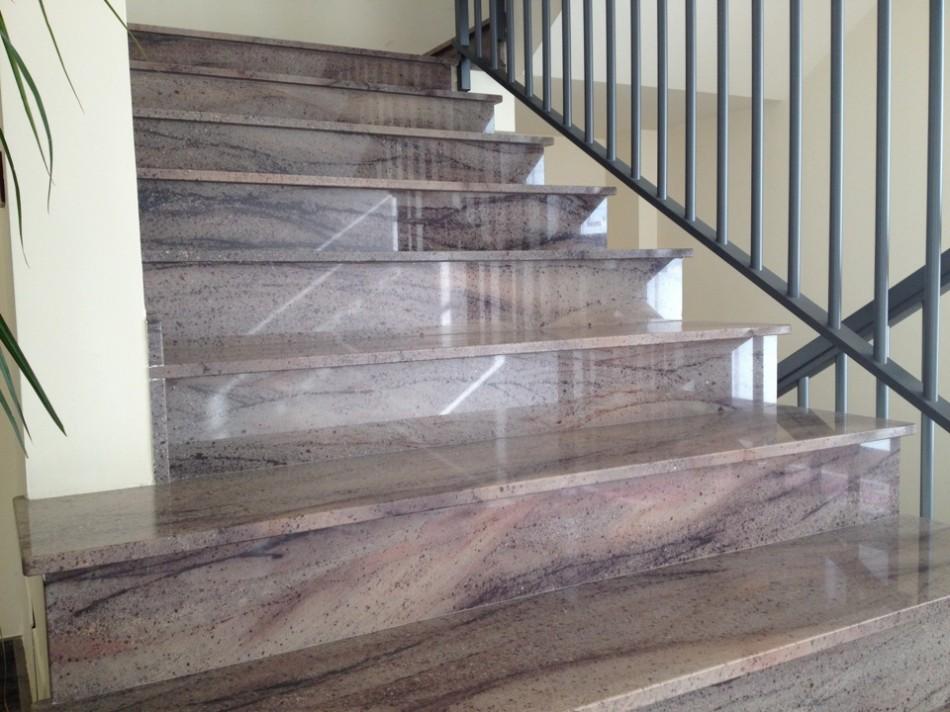 Scala in granito campobello lavorazione marmi e graniti modica - Granito per scale ...